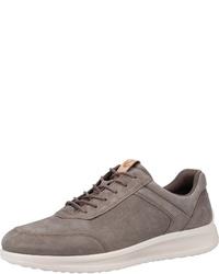 braune Segeltuch niedrige Sneakers von Ecco