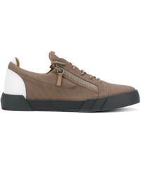 braune Segeltuch niedrige Sneakers von Giuseppe Zanotti Design