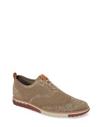 braune Segeltuch Oxford Schuhe