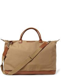 braune Segeltuch Reisetasche