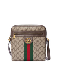 braune Segeltuch Umhängetasche von Gucci