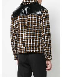 braune Shirtjacke mit Karomuster von Cmmn Swdn