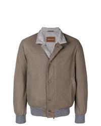 braune Shirtjacke von Doriani Cashmere