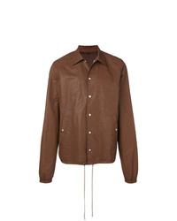 braune Shirtjacke von Rick Owens