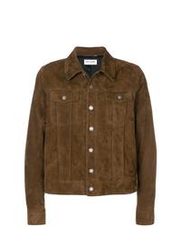 braune Shirtjacke von Saint Laurent