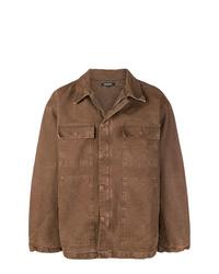 braune Shirtjacke von Yeezy