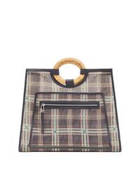 538b68508929e ... braune Shopper Tasche aus Leder mit Karomuster von Fendi