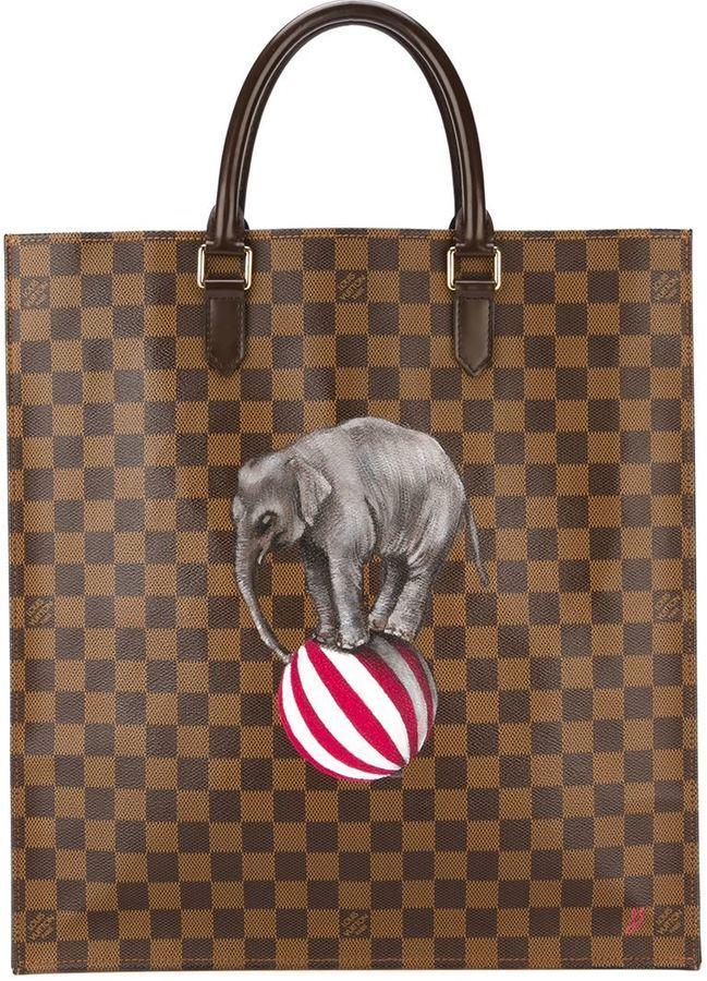 67e25a9ad0cd8 ... braune Shopper Tasche aus Leder mit Karomuster