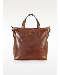 braune Shopper Tasche aus Leder