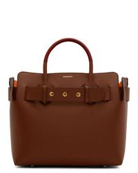 braune Shopper Tasche aus Leder von Burberry