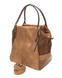 braune Shopper Tasche aus Leder von COLLEZIONE ALESSANDRO