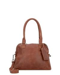 braune Shopper Tasche aus Leder von Cowboysbag