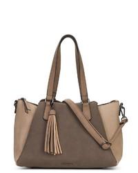 braune Shopper Tasche aus Leder von EMILY & NOAH