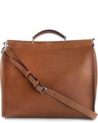 braune Shopper Tasche aus Leder von Fendi