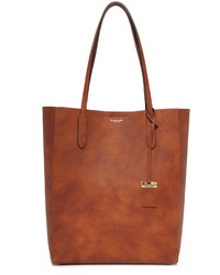 braune Shopper Tasche aus Leder von Michael Kors