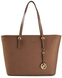 braune Shopper Tasche aus Leder von MICHAEL Michael Kors