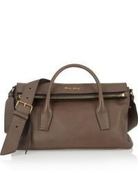 braune Shopper Tasche aus Leder von Miu Miu