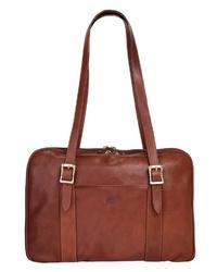 braune Shopper Tasche aus Leder von Piké