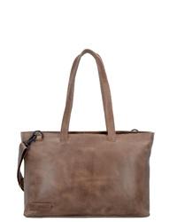 braune Shopper Tasche aus Leder von Plevier
