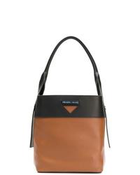 braune Shopper Tasche aus Leder von Prada