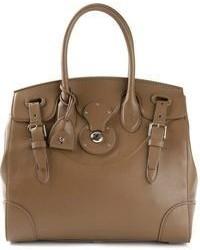 braune Shopper Tasche aus Leder von Ralph Lauren