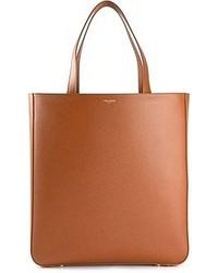 braune Shopper Tasche aus Leder von Saint Laurent