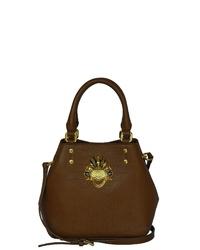 braune Shopper Tasche aus Leder von SILVIO TOSSI