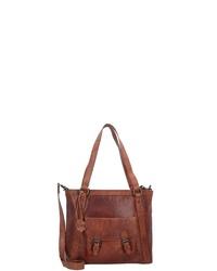 braune Shopper Tasche aus Leder von Spikes & Sparrow