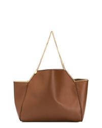 braune Shopper Tasche aus Leder von Stella McCartney