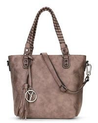 braune Shopper Tasche aus Leder von SURI FREY