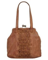 braune Shopper Tasche aus Leder von X-ZONE