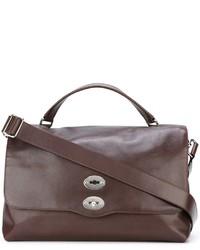 Braune Shopper Tasche aus Leder von Zanellato