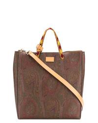 braune Shopper Tasche aus Segeltuch von Etro