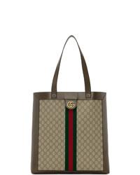 braune Shopper Tasche aus Segeltuch von Gucci
