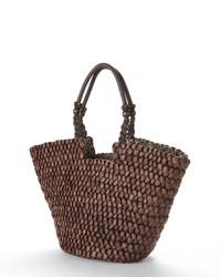 braune Shopper Tasche aus Stroh
