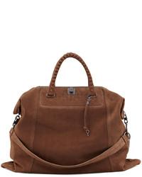braune Shopper Tasche aus Wildleder