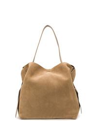 braune Shopper Tasche aus Wildleder von Acne Studios