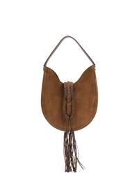 braune Shopper Tasche aus Wildleder von Altuzarra