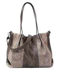 braune Shopper Tasche aus Wildleder von EMILY & NOAH