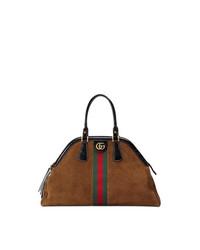 braune Shopper Tasche aus Wildleder von Gucci