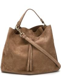 braune Shopper Tasche aus Wildleder von Maison Margiela