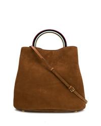 braune Shopper Tasche aus Wildleder von Marni