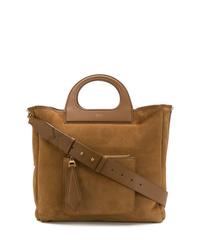 braune Shopper Tasche aus Wildleder von Max Mara