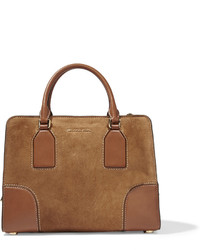 braune Shopper Tasche aus Wildleder von MICHAEL Michael Kors