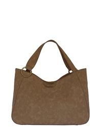 braune Shopper Tasche aus Wildleder von SILVIO TOSSI