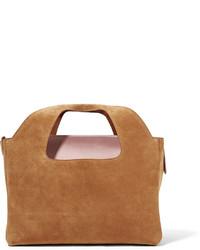 braune Shopper Tasche aus Wildleder von The Row