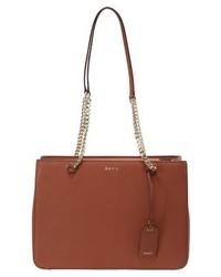 braune Shopper Tasche von DKNY
