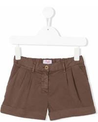 braune Shorts von Il Gufo