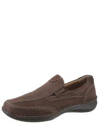braune Slip-On Sneakers aus Leder von Josef Seibel
