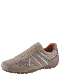 braune Slip-On Sneakers von Geox